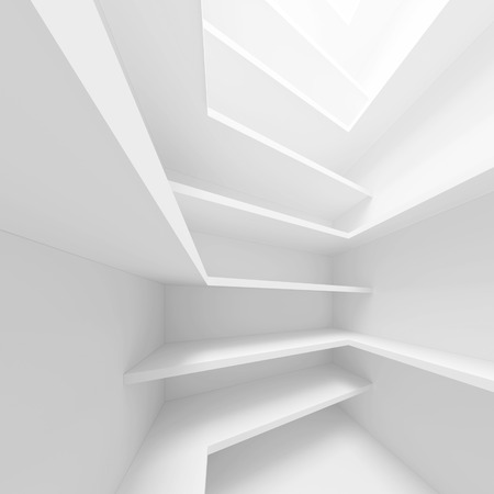 3d White Abstract Architecture Concept photo