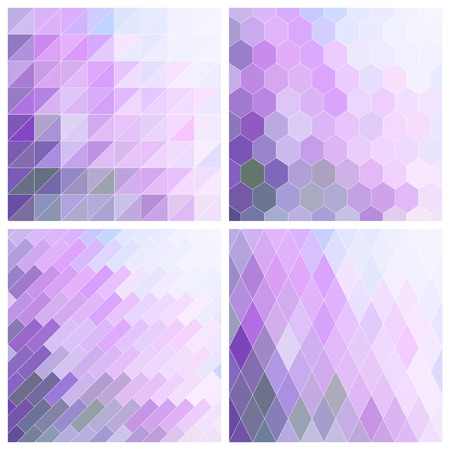 lilac background: Vector Abstract Lila Tile Background Set Illustration