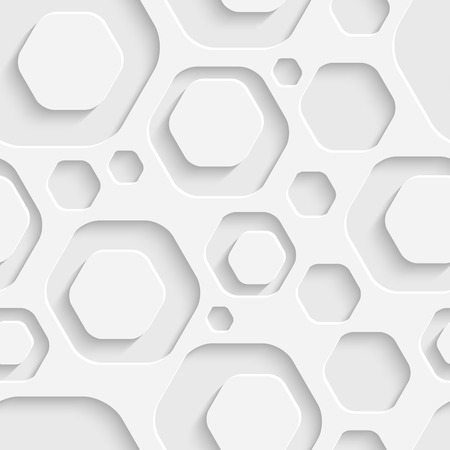 Vector Abstract Seamless Hexagon Background Vector