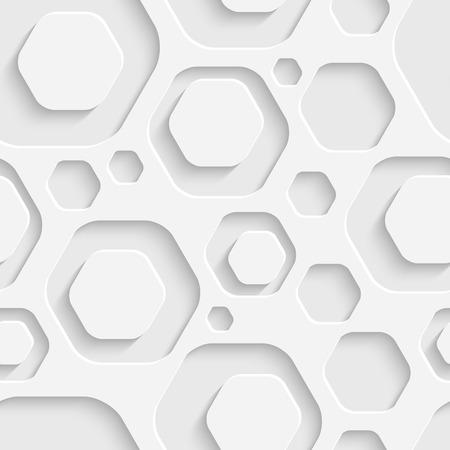 Vector Abstract Seamless Hexagon Background Vector