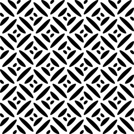 lattice: Vector Seamless Monochrome Geometric Pattern