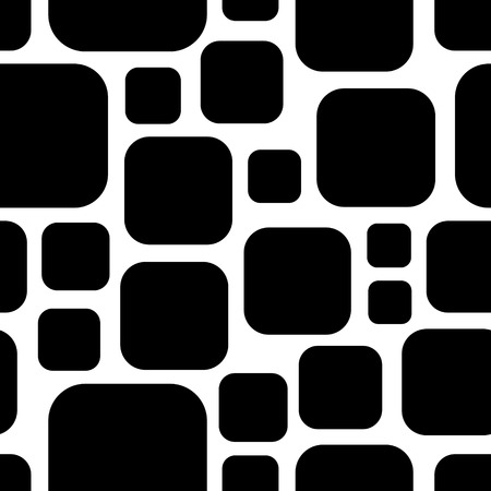 Vector Abstract Seamless Squares Pattern  イラスト・ベクター素材