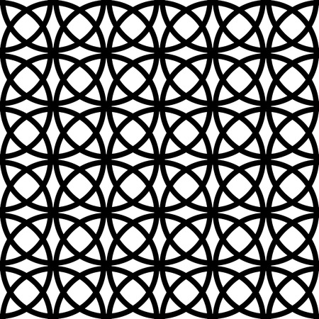 Vector Monochrome Seamless Oriental Pattern Vector