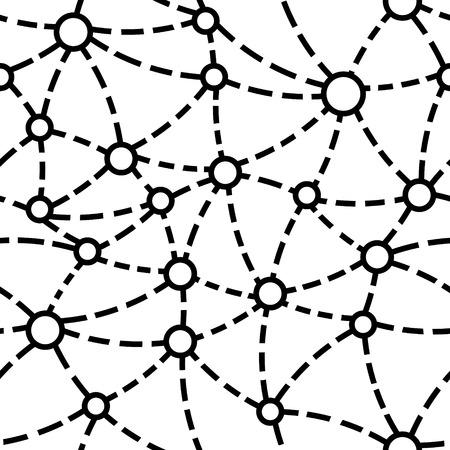 Vector Monochrome Seamless Neuron Pattern Vector