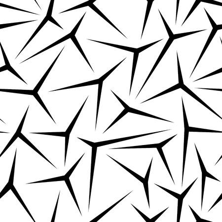 Vector Monochrome Seamless Stars Pattern Vector