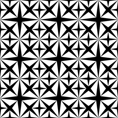 Vector Abstract Seamless Star Pattern Vector