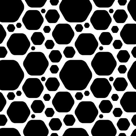 Vector Seamless Monochrome Geometric Background Vector