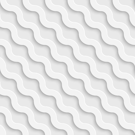 Vector Abstract Seamless Wave Pattern  イラスト・ベクター素材