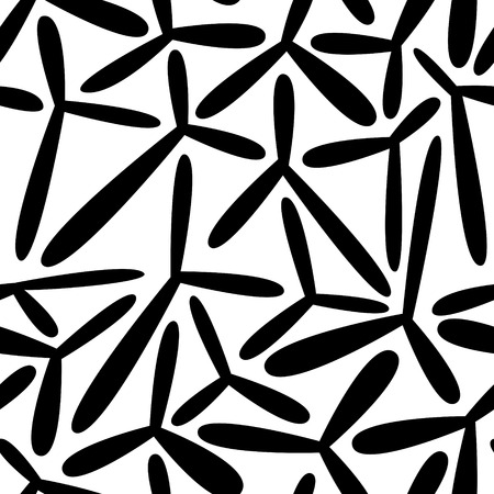 Vector Abstract Seamless Monochrome Background Vector