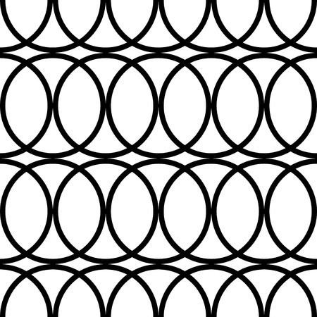 Vector Abstract Seamless Rings Pattern Vector