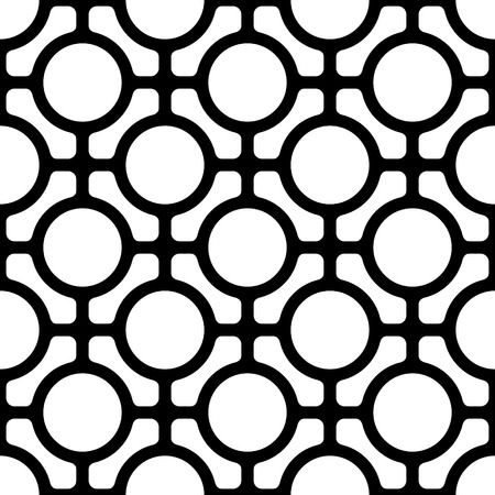lattice: Seamless Monochrome Oriental Pattern