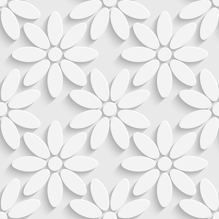 stripped: Vector Seamless Abstract Floral Pattern