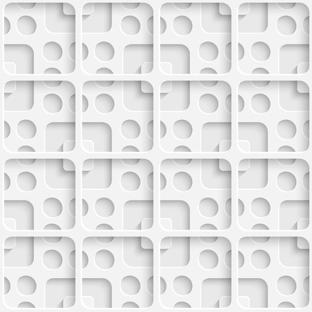 Vector Abstract Seamless Squares Pattern Ilustracja