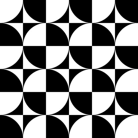 Vector Abstract Seamless Circles Pattern Vector