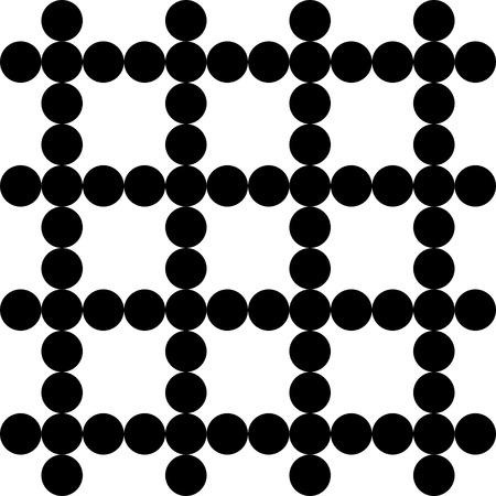 Vector Seamless Monochrome Circles Pattern Vector