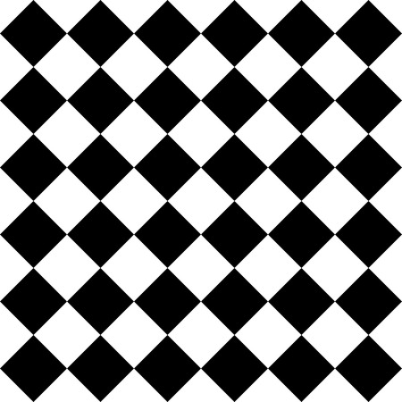 Vector Seamless Monochrome Checkered Pattern