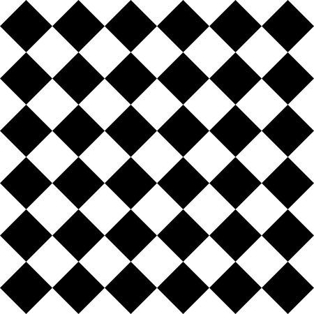 Vector Seamless Monochrome Checkered Pattern