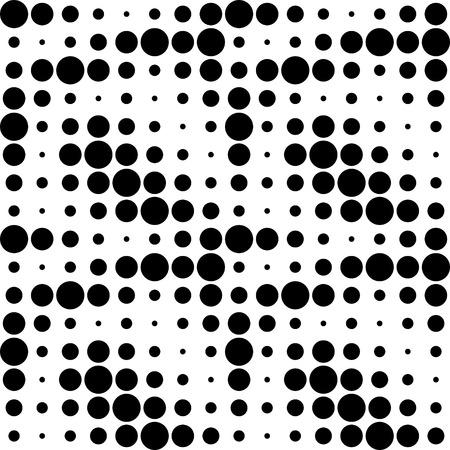 Vector Abstract Seamless Circles Pattern Illustration