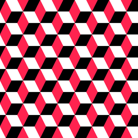 red black: Vector Abstract Seamless Geometric Ornament Illustration