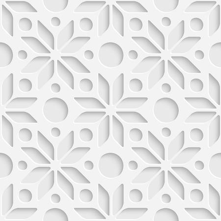 snowflake: Vector Abstract Seamless Stars Pattern Illustration