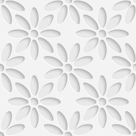 Vector Abstract Seamless Flower Pattern Çizim
