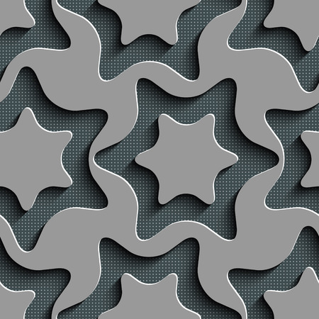 Abstract Seamless Stars Pattern Vector