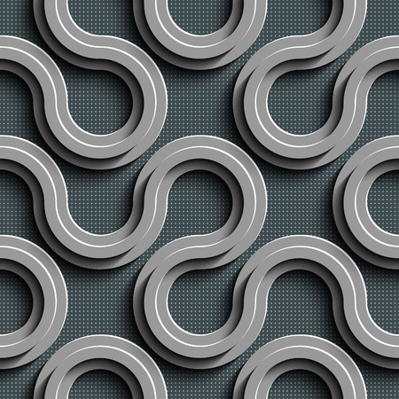 Vector Abstract Seamless Wave Pattern Illustration