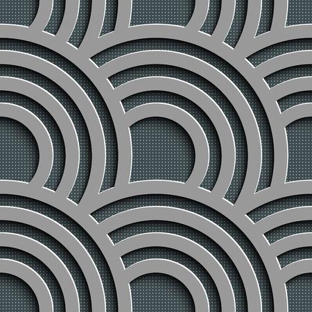 circulos concentricos: Patrón Vector inconsútil abstracto Wave
