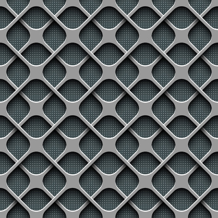 metal lattice: Vector Abstract Seamless Perforated Pattern