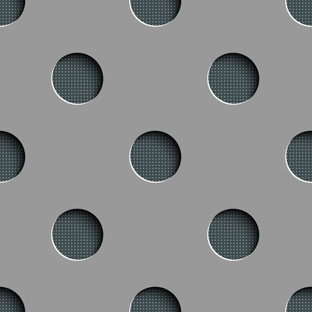 perforated surface: Vector Abstract Seamless Geometric Background Illustration