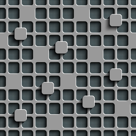 metal lattice: Vector Abstract Seamless Squares Pattern Illustration
