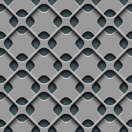 抽象的なシームレスな格子パターン ベクトル