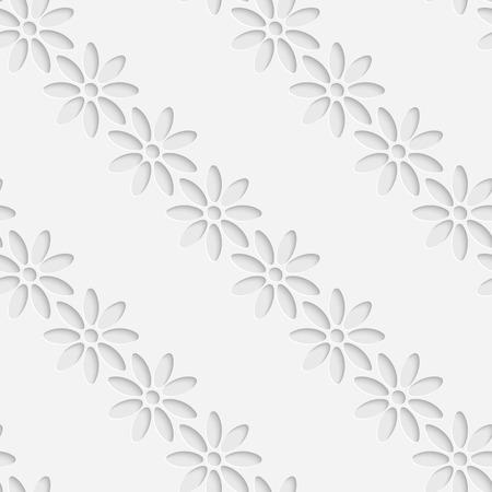 3d flower: Vector Abstract Seamless Flower Pattern Illustration