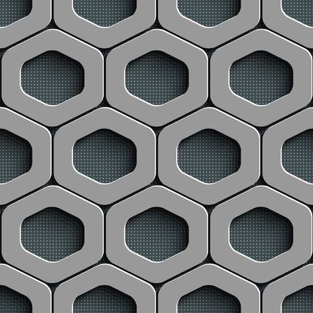 metal lattice: Vector Abstract Seamless Cell Pattern
