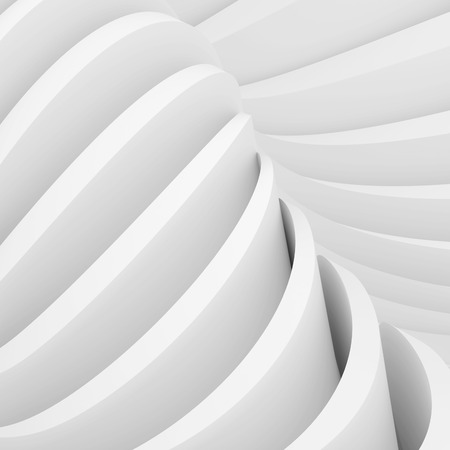 3d White Abstract Architecture Design