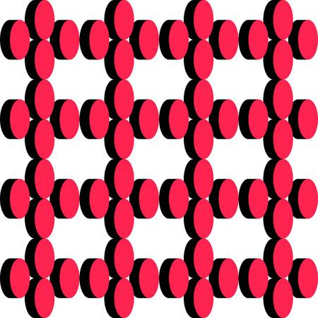 elipse: Patr�n Elipse abstracta. Vector transparente Negro y fondo rojo