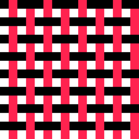 stripe pattern: Seamless Intertwined Stripe Pattern. Vector Black and Red Background Illustration
