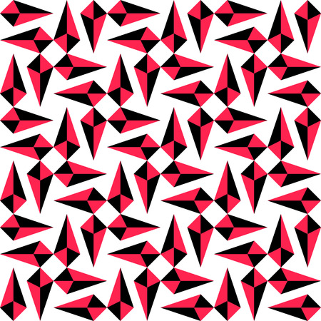 black arrow: Seamless Red and Black Arrow Pattern. Vector Background Illustration