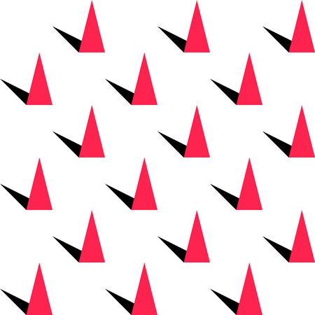 prickle: Abstract Triangle Pattern. Vector Seamless Background