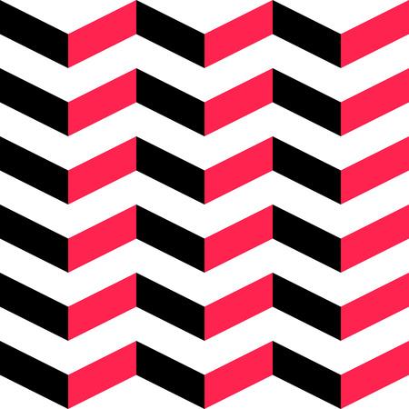 stripe pattern: Senza soluzione di continuit� motivo a strisce. Vettore rosso e sfondo nero.