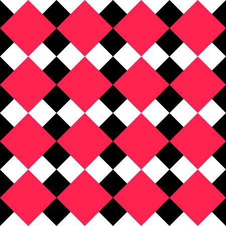 regular: Senza soluzione di continuit� in bianco e Piazza rossa Pattern. Vector Regular Texture