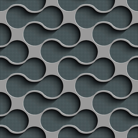 perforated surface: Abstract Seamless Geometric Pattern