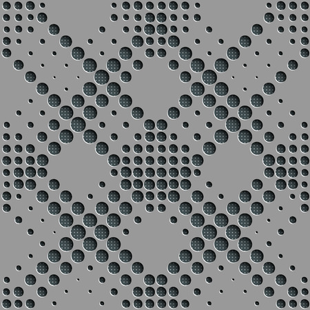 perforated surface: Vector Abstract Seamless Geometric Pattern