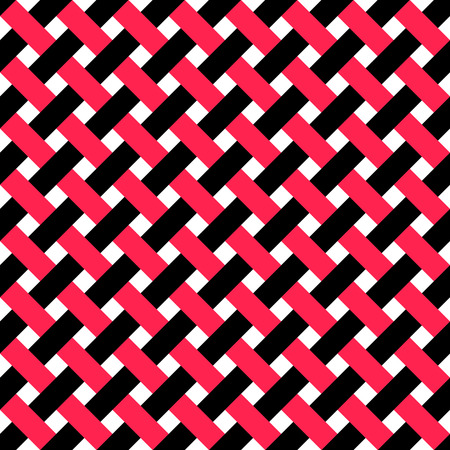 intertwined: Seamless Intertwined Stripe Pattern. Vector Black and Red Background Illustration