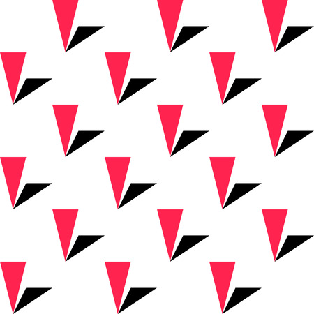 prickle: Seamless Triangle Pattern. Vector Red and Black Background Illustration