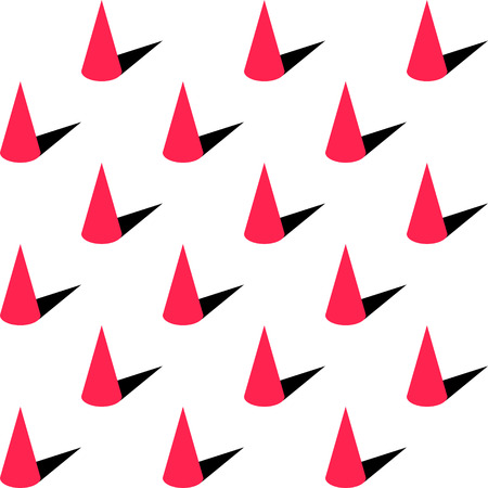 Abstract Cone Pattern. Vector Background. Seamless Regular Texture Illustration