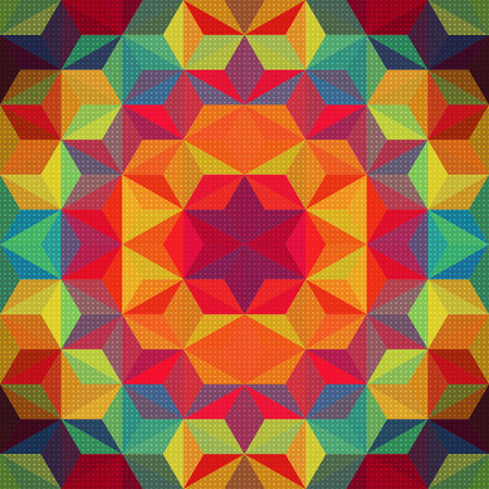 Vector Abstract Modern Psychedelic Pattern Illustration