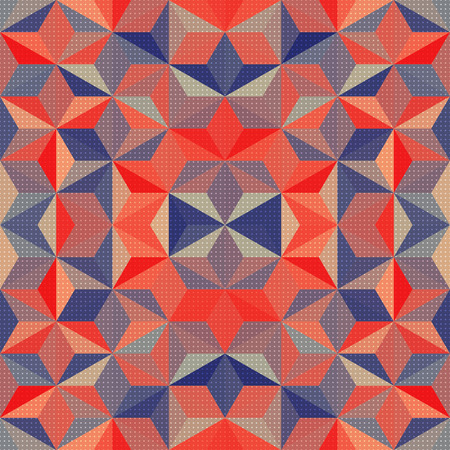 Vector Abstract Mosaic Pattern or Background