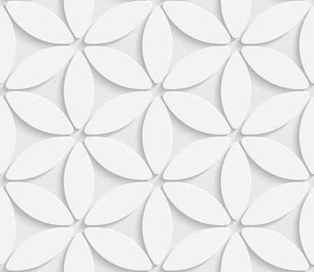 3d Vector Seamless Flower Background Illustration