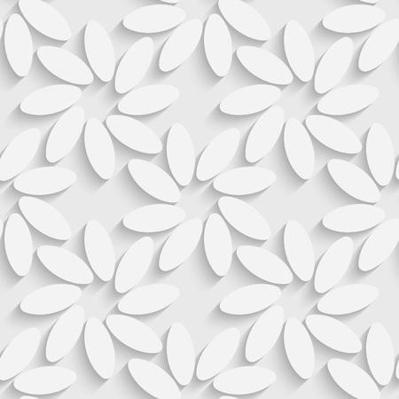 gray pattern: 3d Vector Seamless Flower Pattern